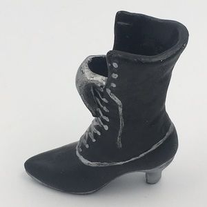 Miniature Black Witch Boot Figurine Decor
